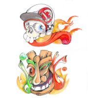 Lowbrow art set 1 by TheCoffeeBaron