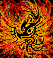 Tribal-ish Phoenix by PsychologicalEntropy