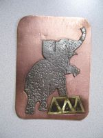 circus elephant 2 ATC by creativeetching