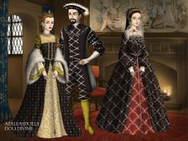 Diane, Henry II of France and Catherine by TFfan234