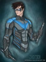 Nightwing-The Night Vigilante by SaifuddinDayana