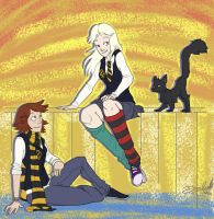 Sunset at Hogwarts by danidipps