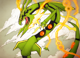 MEGA RAYQUAZA by Wraether