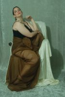 Seated Nouveau Lady 22 by themuseslibrary