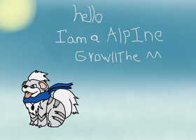 Hello I ' am a Alpine Growlithe by thewhitewolf111