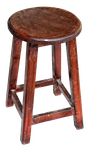 wooden stool by mistyt-stock