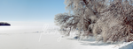 Winter Panoramic #2: Frozen Bay by floating-angel
