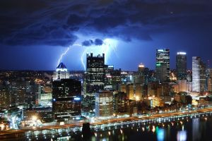 Lightning - Downtown Pittsburgh - 031512 by GTX-Media