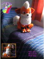 Growlithe life size plush by chocoloverx3