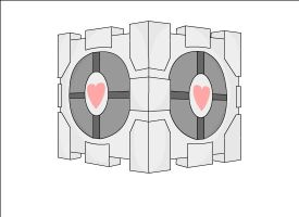 Weighted Companion Cube by ZeroDevil