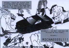 KITT loathes animals by Alan-the-leopard