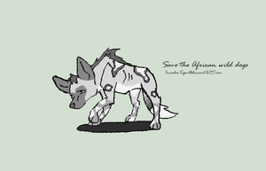 Save the African wild dogs by Koala-Sam