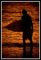 Waikiki Beach Surfer 3 by MindWinder