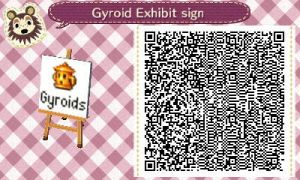 Gyroid Exhibit Sign by TheStaticStalker