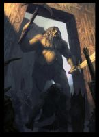 Orcs and Giant - The Gate of Tha'Norrach. by Cloister