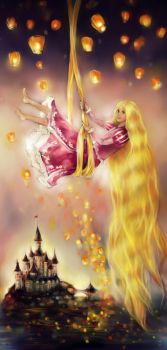 Contest: Rapunzel by DZIU09