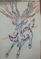 Tribal Xerneas by lugialagia