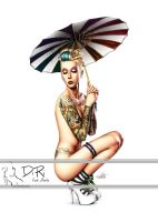 Under my umbrella - color by DiRi