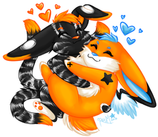 Huggle Chibis by Roum