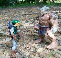 Link meets the Goron by Jarred706