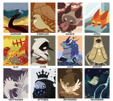 2014 summary of art by Chigle