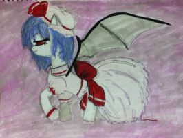 -comission- remilia scarlet gets ponified by NamimoriGamer