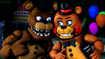 The Stage is mine!-Freddy and Toy Freddy by TalonDang