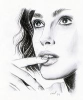 Keira Knightley charcoal sketch by Gabonica