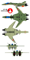 Shinsei Industries VF-19A 727t by bagera3005