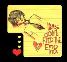 Please Don't Feed the Emo Kid by atychiphobe
