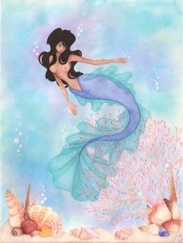 The Blue Mermaid by Cuordiluna