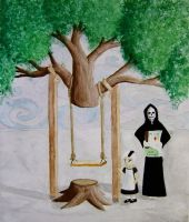 Death Builds a Swing-Set by VincaMinor