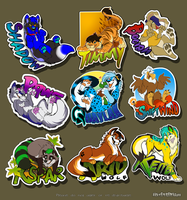 Commission: Badge Batch 1 by SilverDeni