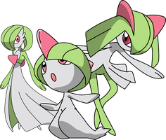 Ralts Evolution Line (Without Gallade) by tonnamprathumtree