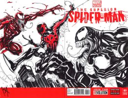 Spider-Man vs Venom and Carnage by KomicKarl