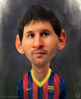 Lionel Messi Caricature by kevmcgivernart
