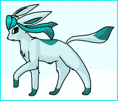 pokemon - glaceon by Peegeray