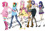 Mane Six Humanized WIP by MagicaRin