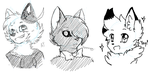 Face doodles by abby-wut