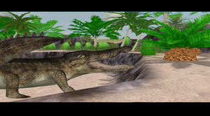Deinosuchus in a Ditch by Eco727