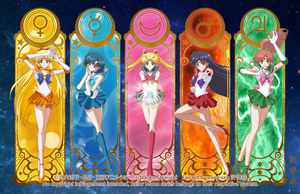 Sailor Moon Crystal (Inner Senshi) by xuweisen