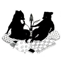 Harem Bears With a Hookah by pink-porcupine