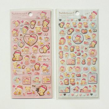 korilakkuma sticker sheet by kawaiicutewebshop