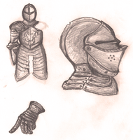 Armor and Weapons study part 1 by Dex91