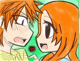 IchiHime Lineart Coloring 2 by razorflame45