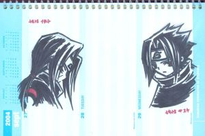 Marker: Uchiha Brothers by MakotoShinki