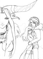 Final Fantasy 8 Lineart by AngelRinoaL