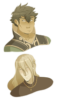 some floating heads by InkyFridays