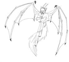 Line art of Sabre Demon by Foxxie-Angel