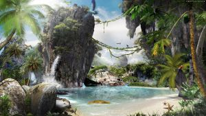 Mysterious Island-Speed Art (#Photoshop CC) by KDessing